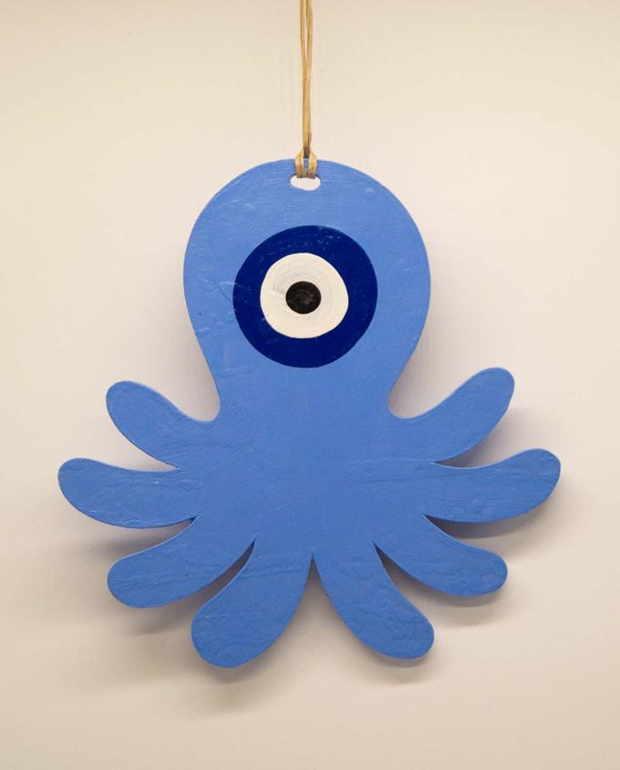 Octopus evil eye blue indigo