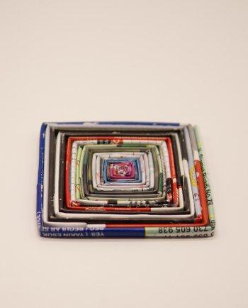 Τετραγωνο σουβερ χάρτινο από περιοδικά
