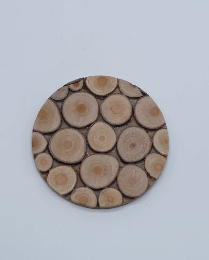 Coaster wooden set of 6 pieces