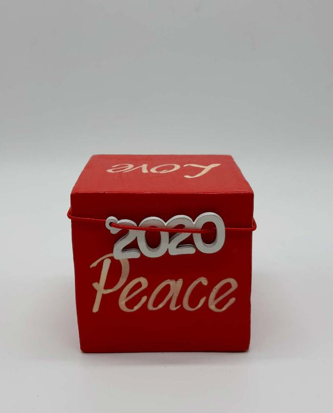 Lucky charm 2020 wooden cube wishes