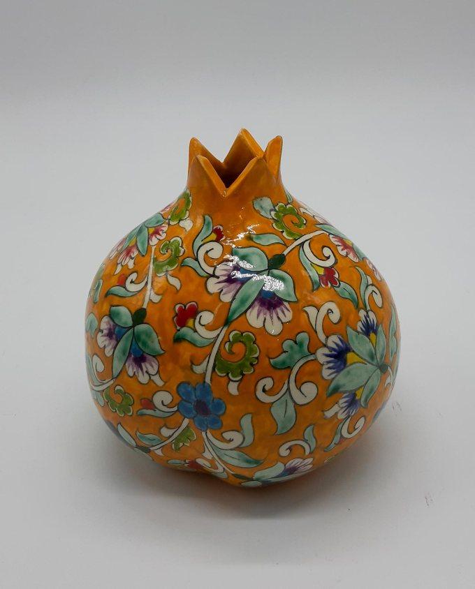 Pomegranate ceramic yellow diam. 12 cm