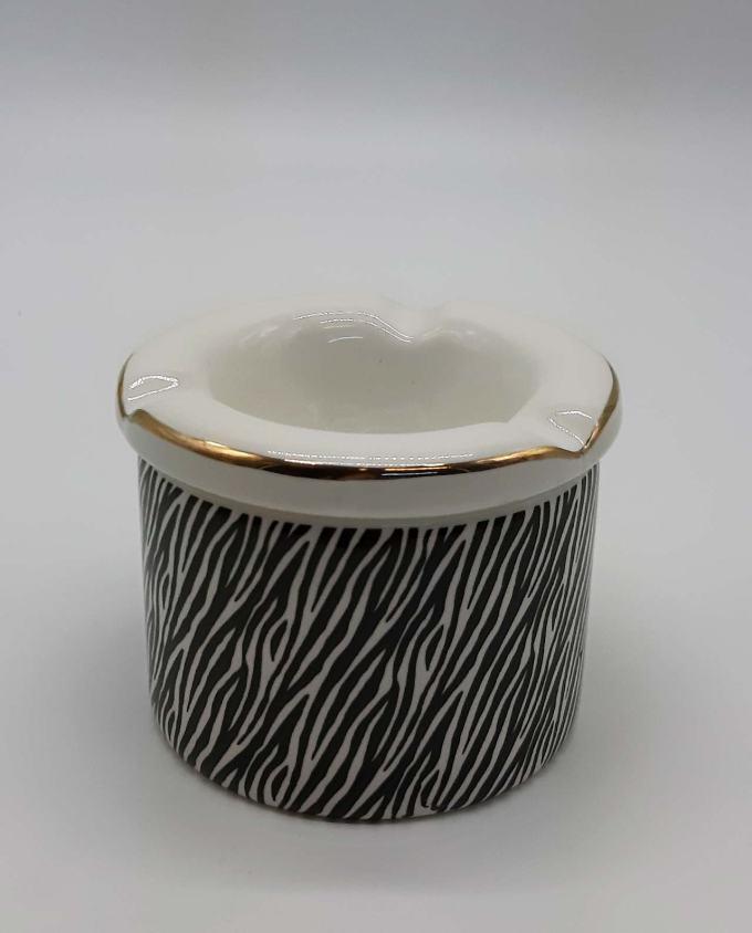 """Ashtray ceramic """"Zebra I"""" diameter 10 cm"""
