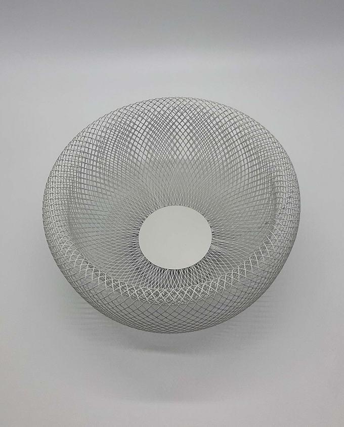 """Μπωλ μεταλλικό άσπρο """"Kubrick"""" διαμέτρου 28 cm"""