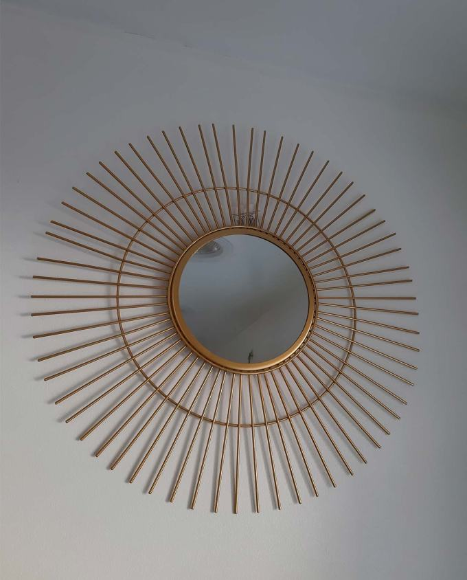 "Mirror gold metal ""Sun"" diameter 50 cm"
