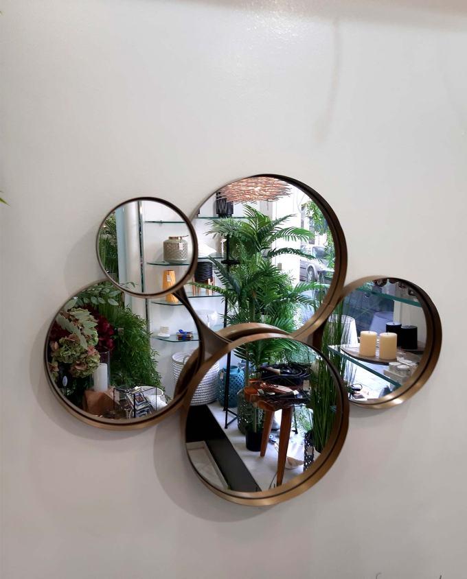 Καθρέπτης από σύμπλεγμα 5 στρογγυλών 73 cm x 58 cm