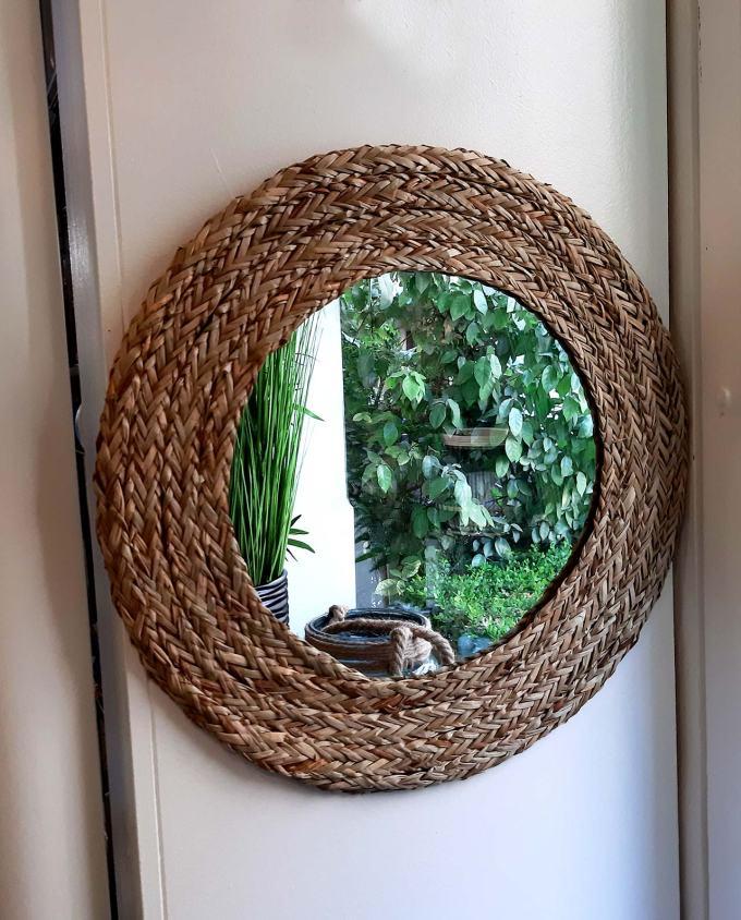 Mirror round grass diameter 55 cm
