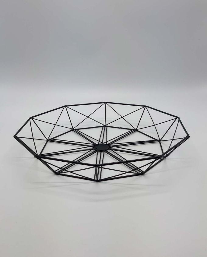 """Πιατέλα μεταλλική """"Geometry"""" διαμέτρου 33 cm"""
