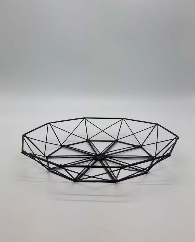 """Platter metal """"Geometry"""" diameter 38 cm"""
