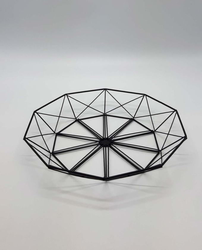 "Platter metal ""Geometry"" diameter 38 cm"