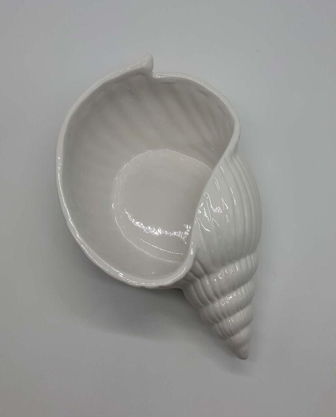 Μπωλ κοχύλι άσπρο 30 cm x 18 cm