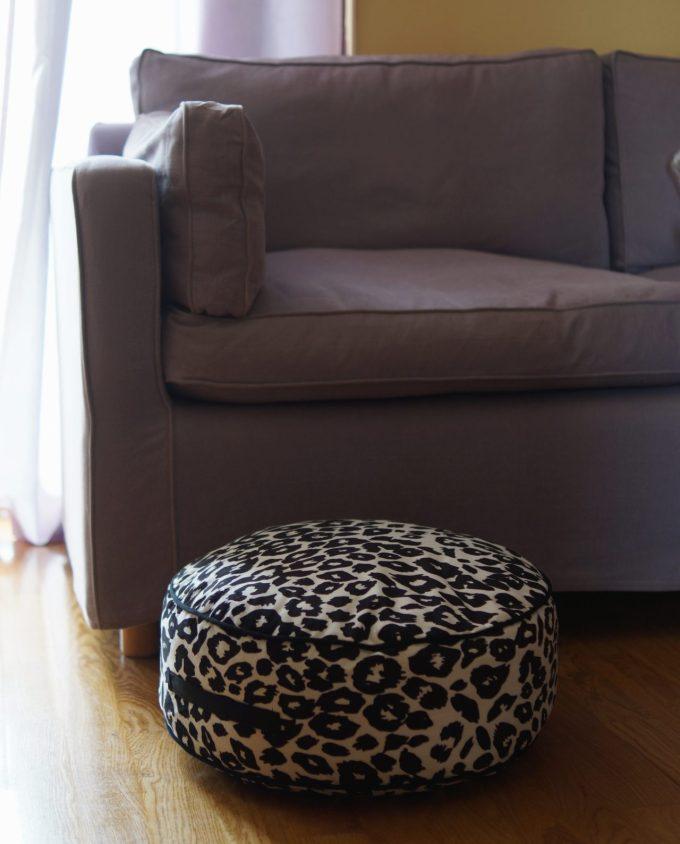 "Seat Cushion ""Leopard"" diameter 45 cm"