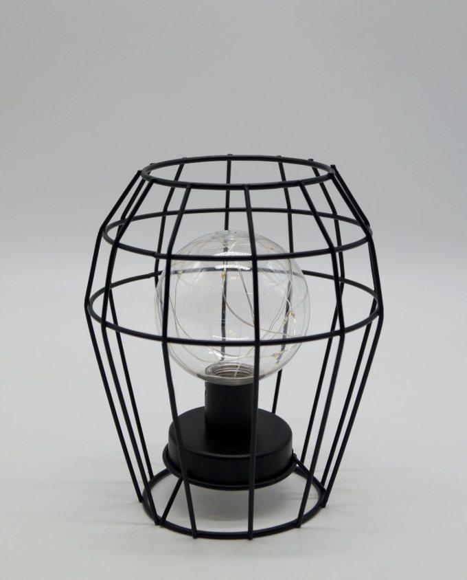 Λάμπα Μεταλλική Μαύρη Led