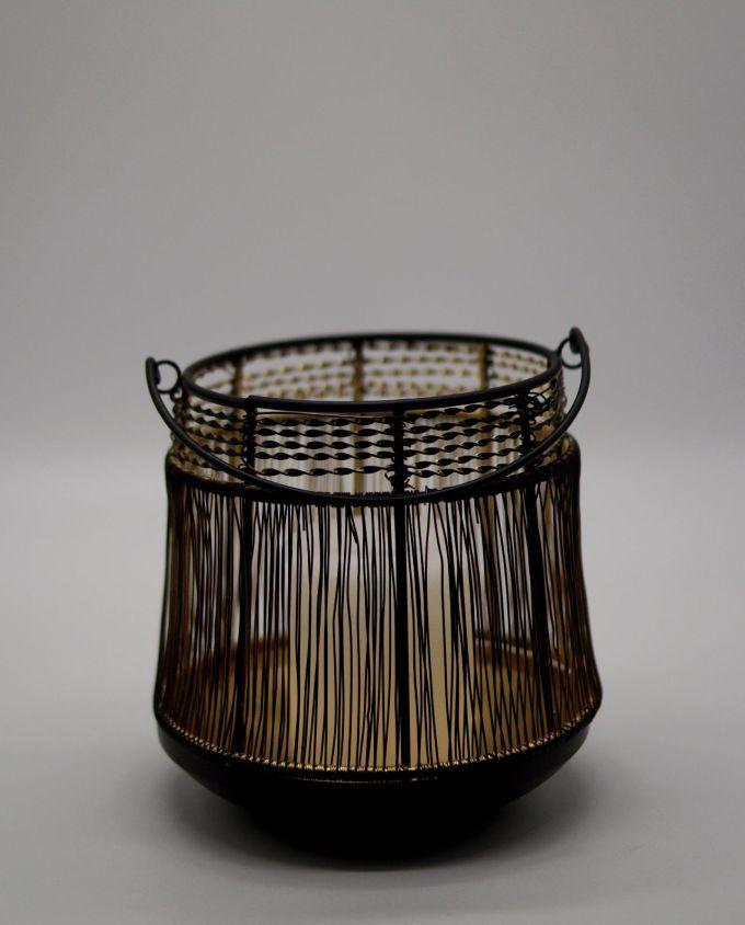 Lantern Metallic Black Gold Knitted