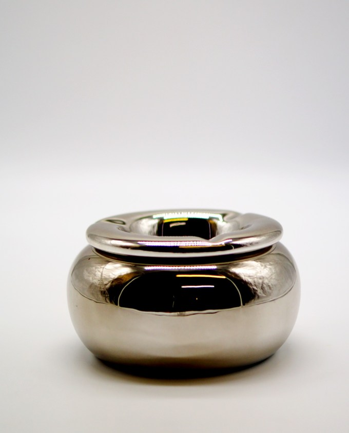 Ashtray Ceramic Silver Diameter 15 cm
