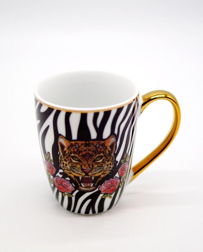 Mug Porcelain Head Leopard