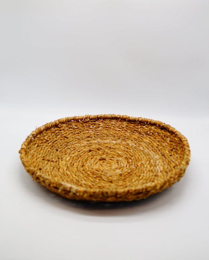 Bowl made of raffia grass diameter 50 cm height 9 cm