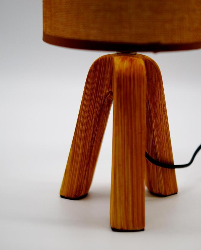 Table lamp mocha color ceramic base