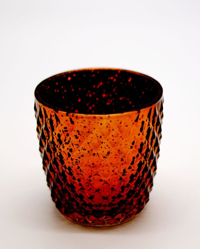 Tealight Glass Metallic Brown