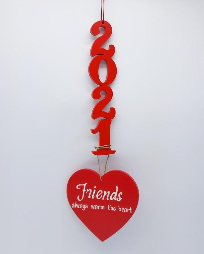 Lucky Charm Wooden 2021 Friendship Heart
