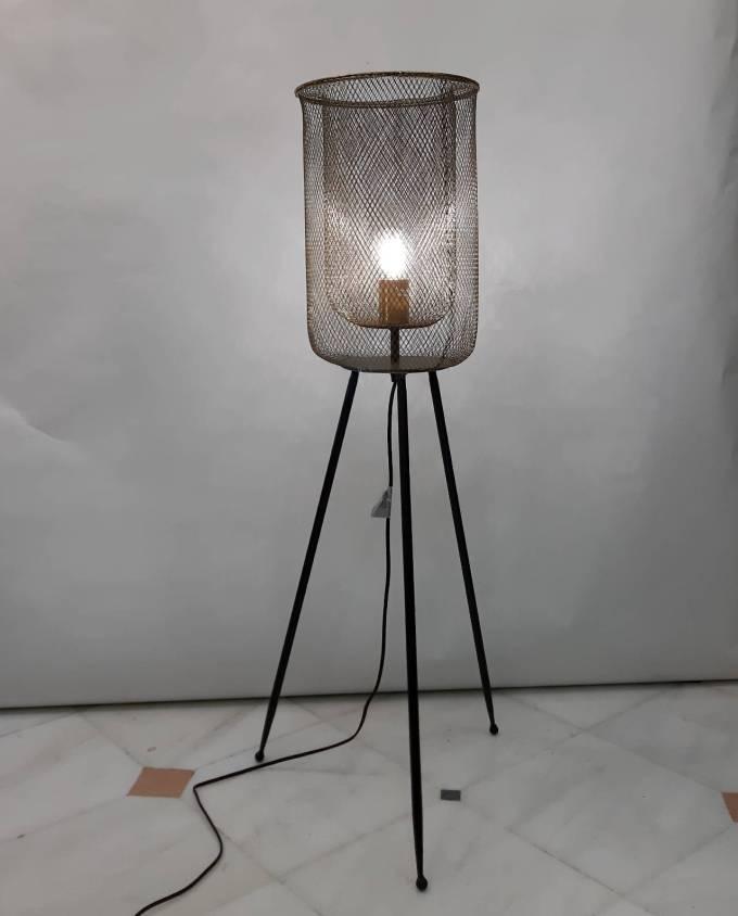 Ground Lamp Iron Black Gold Height 102 cm