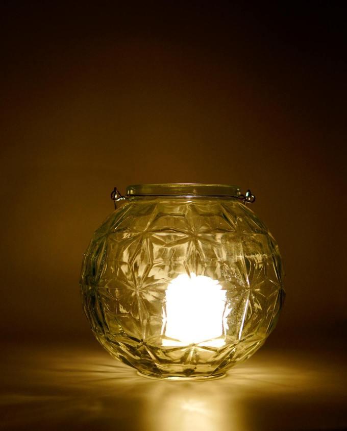 Lantern Sphere Glass Diameter 20 cm