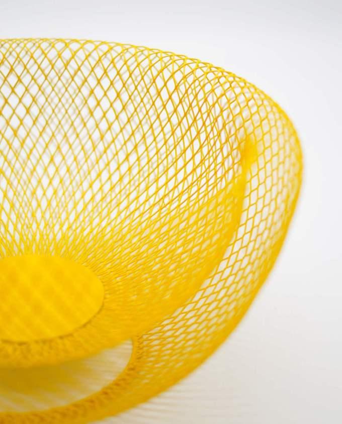 "Bowl Yellow Metal ""Kubrick"" Diameter 24 cm"