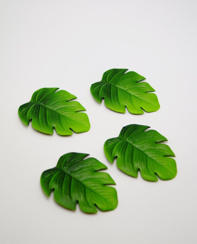 Coaster Palm Leaf Artificial Set 4 Pieces