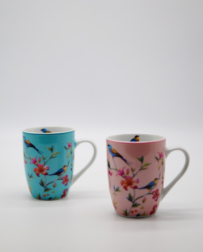 Mugs Porcelain with Flowers