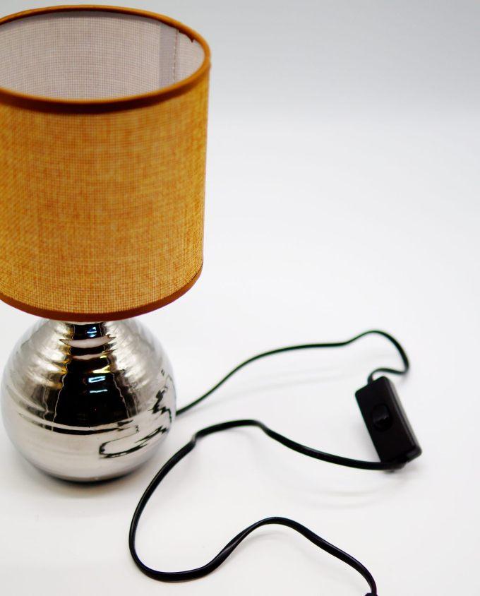 Table Lamp Mocha Silver Ceramic Base