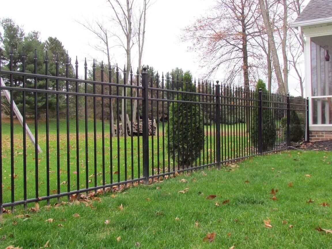 Residential Aluminum Fence Black Metal Fence