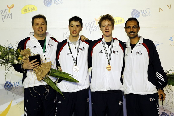 Cadet Men's Foil - US Medalists S.Timacheff/FencingPhotos.com