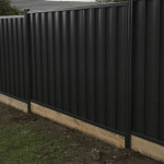 Colorbond Fence with Timber Sleeper