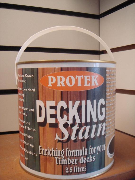 Protek Decking Stain- Clea 2.5 lt