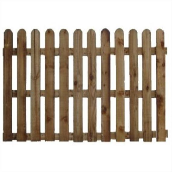 Round Top Picket Fence Panel - 6'x5'