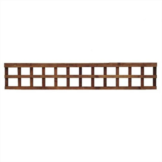 Square Trellis Fence Panel - 6'x1'