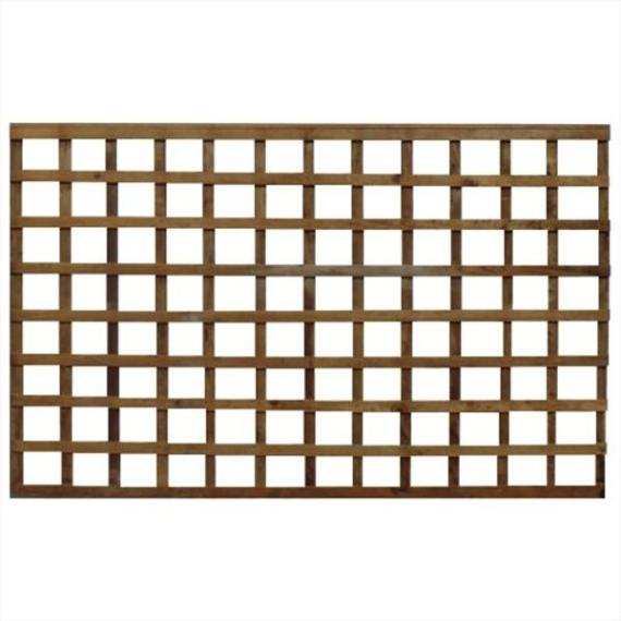 Square Trellis Fence Panel - 6'x4'