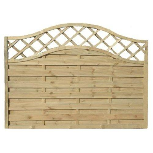 Sussex Wave Fence Panel - 6'x5'