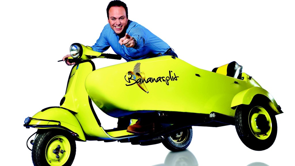 Frands Bauer on the Bananasplit Vespa Image: Fendert Lokaal