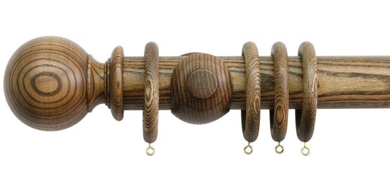 jones oakham ball 50mm wooden curtain pole