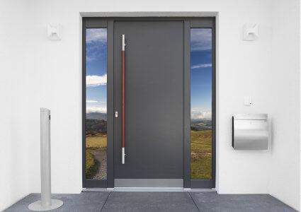 une porte contemporaine la porte d entree en aluminium