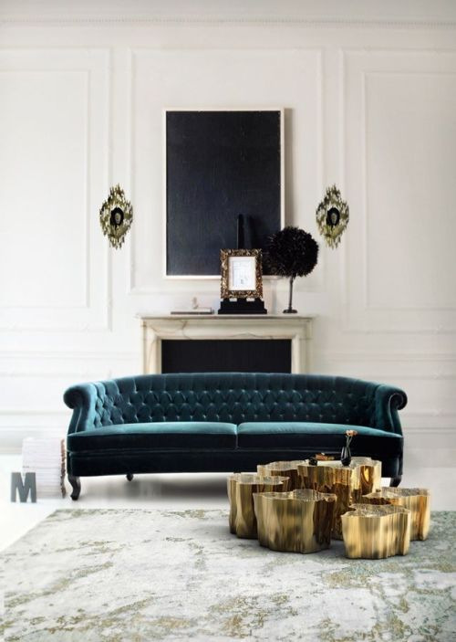 Dream Home Teal Velvet Button Tufted Oversized Sofa Couch for Living Room