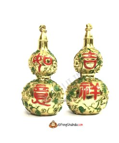 Pair of Golden Wu Lou for Good health