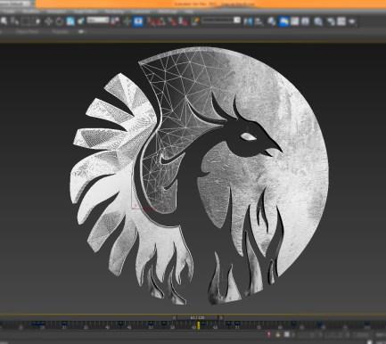 FENIX_studio logo in CGI
