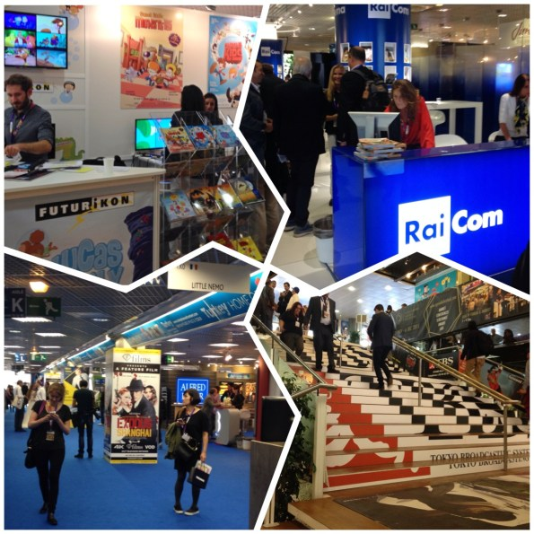 Alcuni booth all'interno del MIPCOM