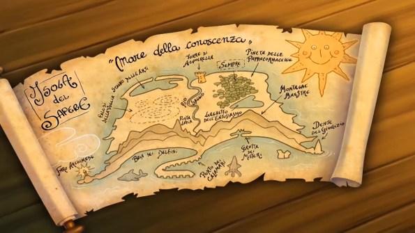 La mappa dell'Isola del Sapere di Capitan Calamaio
