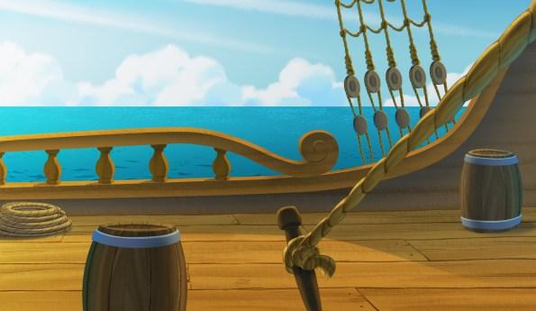 Il ponte del galeone di Capitan Calamaio