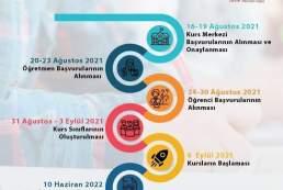 2021-2022 destekleme ve yetistirme kurs takvimi