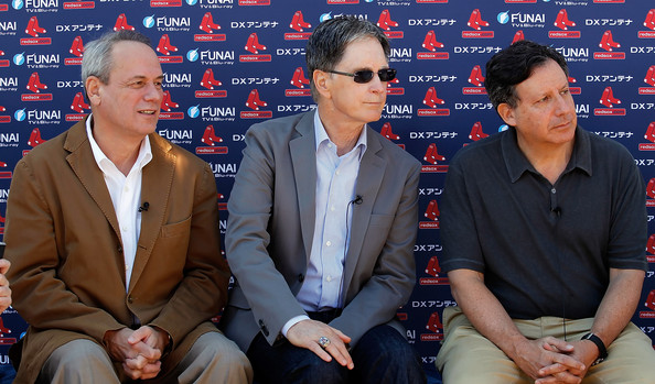 Larry Lucchino, John Henry and Tom Werner