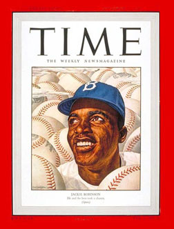 Jackie Robinson on cover of Time Magazine