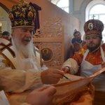 Освящение храма в честь преподобного Сергия Радонежского